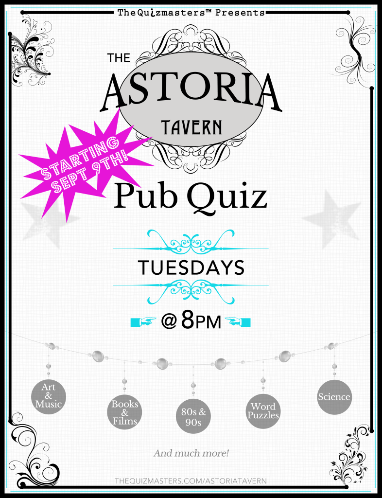 Astoria Tavern Poster 2014