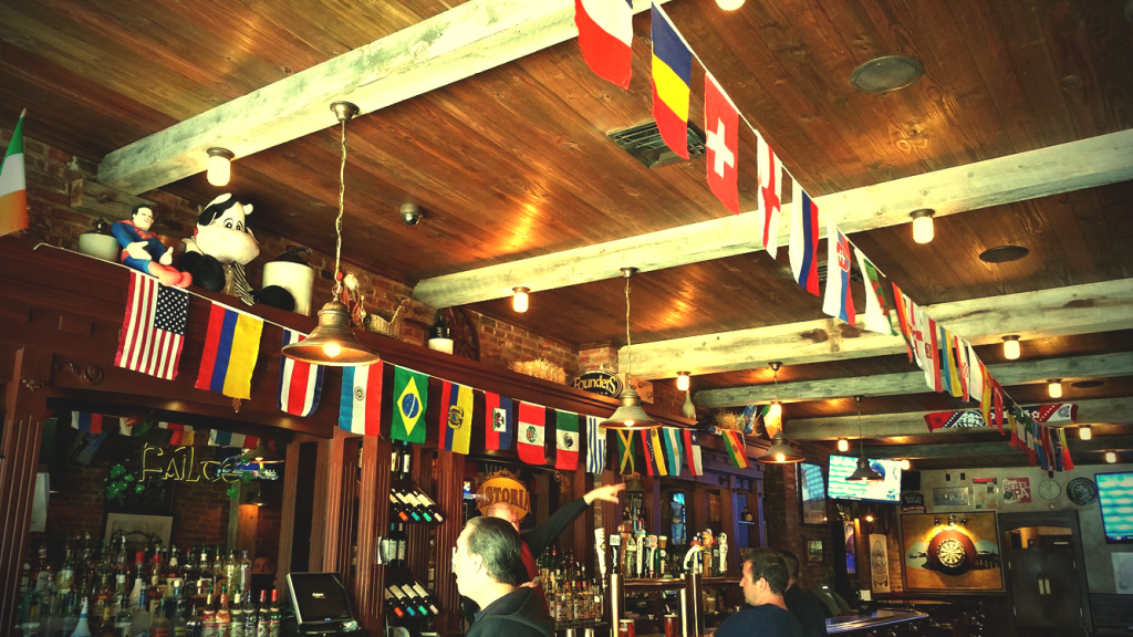 astoria tavern - copa america - flags