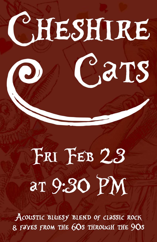 2018-02-15 astoria tavern - cheshire cats poster